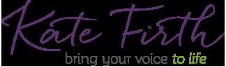 Kate Firth voice coach